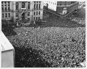 PRESIDENT TRUMAN SPEAKS IN PROVIDENCE