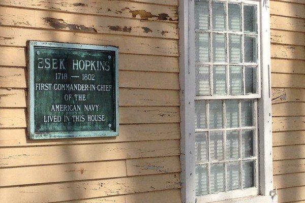 esek hopkins plaque