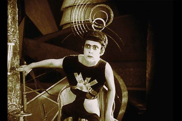 A scene from Yakov Protazanov's AELITA (1924), one of over 200 archival films included in Manu Luksch, Martin Reinhart & Thomas Tode's documentary DREAMS REWIRED.  Courtesy of Icarus Films.