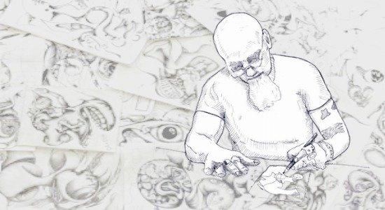 bert crenca doodling